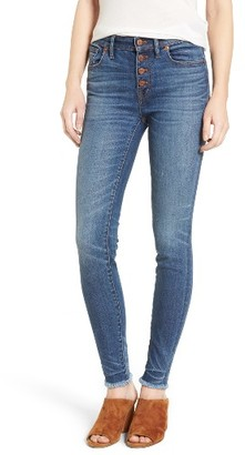Women's Madewell High Rise Skinny Jeans: Button-Through Edition $135 thestylecure.com