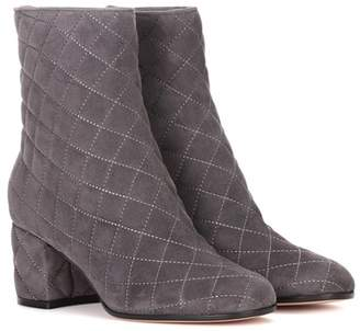 bfd2177850c at mytheresa · Gianvito Rossi Exclusive to mytheresa.com – Quilted suede  ankle boots