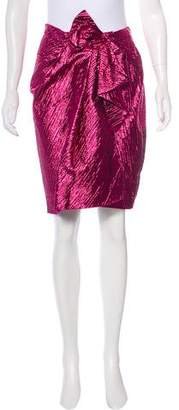Lanvin Knee-Length Iridescent Skirt w/ Tags