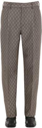 Gucci Gg Supreme Logo Wool Blend Pants