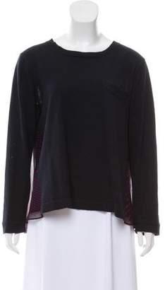 Sacai Luck Heart Print Long Sleeve Sweater