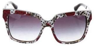 Dolce & Gabbana Polka Dot Logo Sunglasses