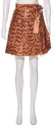 Miu Miu Printed Mini Skirt