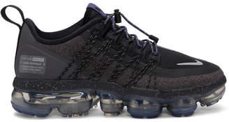 Nike Black and Purple Air VaporMax Run Utility Sneakers