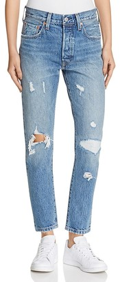 Levi's 501® Selvedge Skinny Jeans in Pacific Ocean Blues $168 thestylecure.com