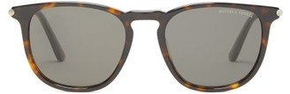 Bottega Veneta Round Frame Acetate Sunglasses - Mens - Black