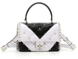 Valentino Quilted Leather Two-Tone Shoulder Bag