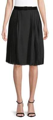Ralph Lauren Chantel Silk Pleated Skirt