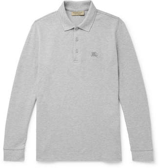 Burberry Cotton-Pique Polo Shirt - Gray