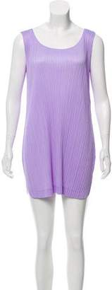 Pleats Please Issey Miyake Pleated Sleeveless Dress