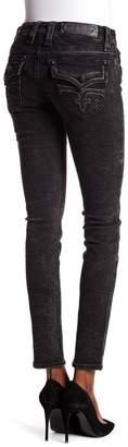 Rock Revival Metallic Wrinkled Skinny Jeans
