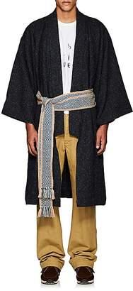 Visvim Men's Donegal-Effect Silk-Blend Kimono