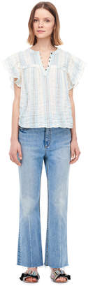 Rebecca Taylor La Vie Double Gauze Stripe Top