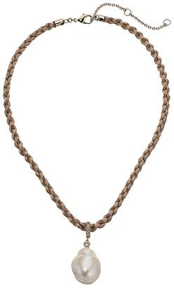 Nina Baroque Necklace On Braided Cord Necklace