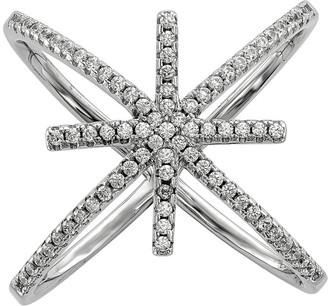 Sterling Crystal Star Ring