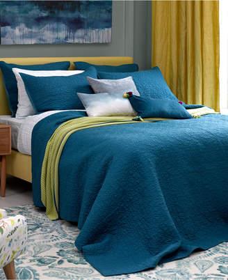 bluebellgray Fern Solid Saxony Blue Full/Queen Coverlet Bedding