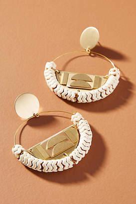 David Aubrey Colette Hooped Post Earrings