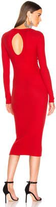 Enza Costa Rib Back Keyhole Midi Dress