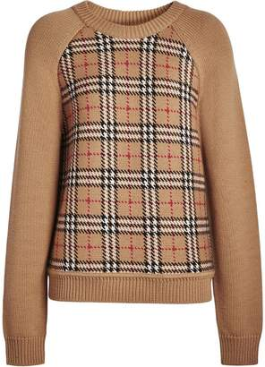 Burberry Vintage Check Wool Jacquard Sweater