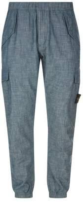 Stone Island Chambray Cargo Trousers