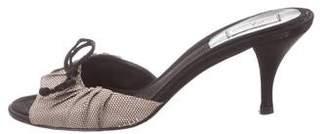 Delman Woven Slide Sandals