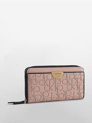 Calvin KleinCalvin Klein Womens Olivia Zip Continental Wallet Stucco