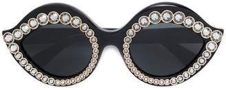 Gucci crystal-embellished sunglasses
