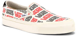 Vans OG Slip-On 59 LX in Racing Red & Logo Checkerboard | FWRD