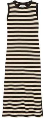 Current/Elliott The Perfect Muscle Tee Striped Cotton-jersey Midi Dress