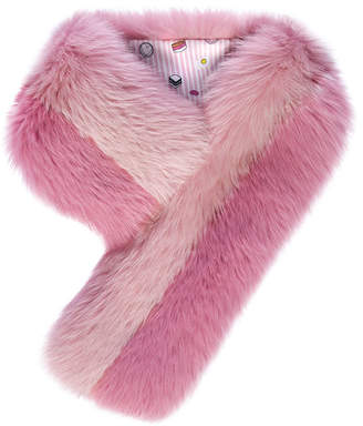 Charlotte Simone Cuddle Cuff Scarf in Fox Fur
