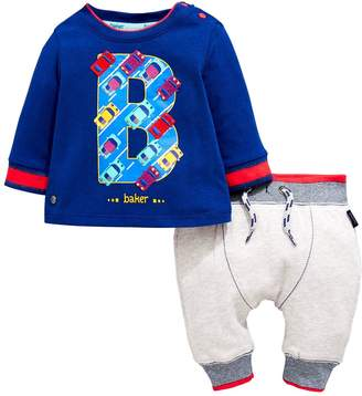 Ted Baker Baby Boys Car Print T-Shirt & Jogger Outfit