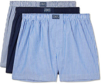 Polo Ralph Lauren Three-pack Cotton-poplin Boxer Shorts