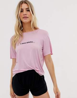Adolescent Clothing 5 more mins t-shirt and shorts pyjama set