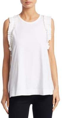 No.21 No. 21 No. 21 Women's Sleeveless Ruffle Top - White - Size 40 (4)