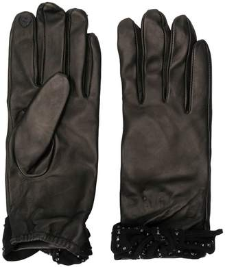 Twin-Set bow-embellished gloves