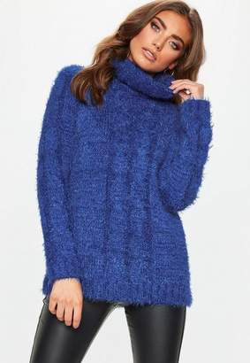 Missguided Roll Neck Longline Knitted Jumper
