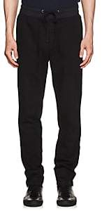 James Perse MEN'S COTTON DRAWSTRING JOGGER PANTS-BLACK SIZE 1