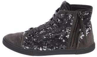 Louis Vuitton Sequin High Heel Sneakers