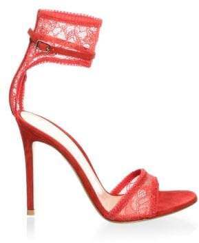 Gianvito Rossi Lace Ankle Strap Sandals