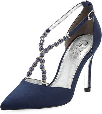 Adrianna Papell Pointed-Toe Pumps With Beaded Straps