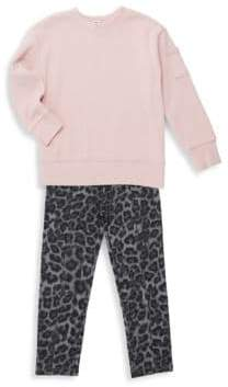 Splendid Baby Girl's& Little Girl's Two-Piece Sweatshirt and Pants Set