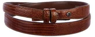 Kieselstein-Cord Lizard Buckle Belt Brown Lizard Buckle Belt