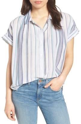 Caslon Patterned Cotton Shirt (Regular & Petite)