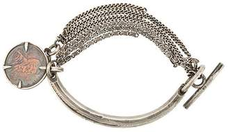 Ann Demeulemeester solid staff and chain bracelet