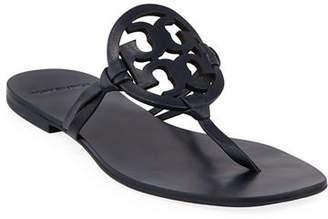Tory Burch Miller Square-Toe Flat Slide Sandals