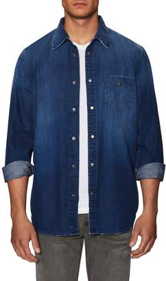 Hudson Men's Weston Snap Denim Sportshirt