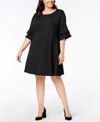 John Paul Richard Plus Size Ruffle-Sleeve Dress