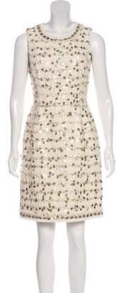 Oscar de la Renta 2013 Sleeveless Knee-Length Dress