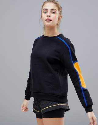 South Beach Stripe Sleeve Sweatshirt