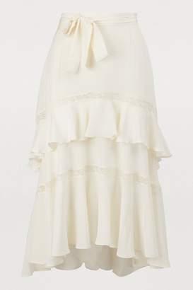 Zimmermann Silk midi skirt